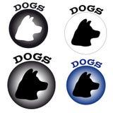 Symbolhundkapplöpning på vit bakgrund Royaltyfria Bilder