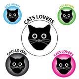 Symboli/lów kotów kochankowie na białym tle ilustracji