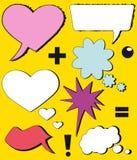 Symboli/lów mowy bąble (mowa komiczni bąble) Obrazy Royalty Free