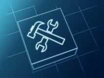 symboli/lów narzędzia Zdjęcia Stock