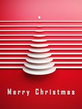 Symbolic 3d Christmas tree Royalty Free Stock Images