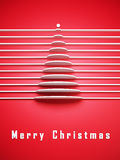 Symbolic 3d Christmas tree Royalty Free Stock Photography