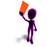 Symbolic 3d male toon character has a letter for Royalty Free Stock Photo
