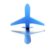 Symbolic airplane take off. Isolated 3d render Royalty Free Stock Images