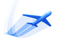 Symbolic airplane take off. Isolated 3d render royalty free illustration