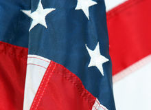 Symbolic America. A Closeup Of Stars And Stripes royalty free stock images
