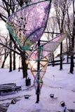 Symbolic art object in city park Stock Image