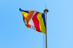 Symbolic Buddhist flag Royalty Free Stock Photo
