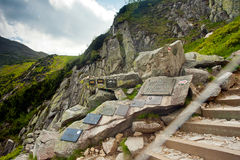Symbolic cemetery for victims of the mountains Stock Images