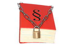Symbolic chain protection Stock Image