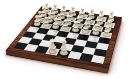 Symbolic chess revolution Stock Image