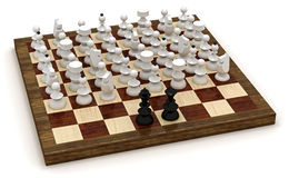 Symbolic chess revolution Royalty Free Stock Image