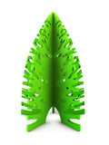 Symbolic Christmas tree 3d render Royalty Free Stock Image