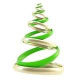 Symbolic Christmas tree made of rings isolated Royalty Free Stock Images