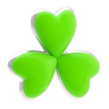 Symbolic clover leaf symbol isolated Stock Images
