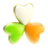Symbolic clover leaf symbol isolated Stock Photo