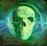 Digital Skull royalty free illustration