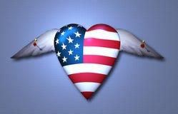 Pinned Freedom Heart stock photography
