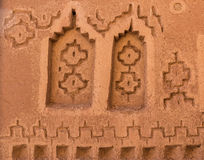 The symbolic design for decoration of Kasbah de Taourirt Royalty Free Stock Images