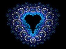 Symbolic diamond heart-shaped blue heart that Royalty Free Stock Photo