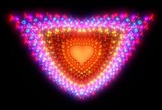 Symbolic diamond heart-shaped red heart that. Symbolizes love. Fractal art graphics Stock Image