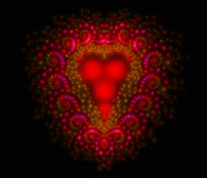 Symbolic diamond heart-shaped red heart that Royalty Free Stock Photography