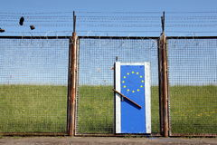 Symbolic European Border Royalty Free Stock Image