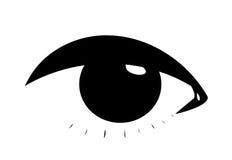 Symbolic female eye. Symbolic black woman  eye Stock Photos