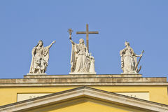 Symbolic figures of Faith, Hope and Love stock photo