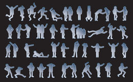 Symbolic figures of people. Set of active human pictograms. Vector isolated Royalty Free Stock Images
