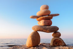 Symbolic figurine of stones Stock Image