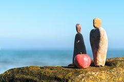 Symbolic figurines from stones Royalty Free Stock Photography