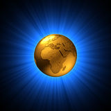 Symbolic golden earth Royalty Free Stock Photo