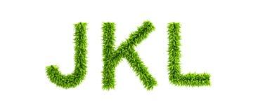 Symbolic grassy alphabet. 3d rendering Stock Photos