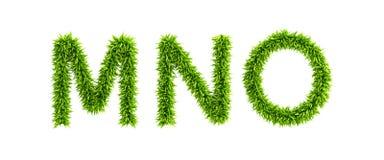 Symbolic grassy alphabet. 3d rendering Royalty Free Stock Photos