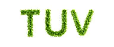 Symbolic grassy alphabet Royalty Free Stock Image