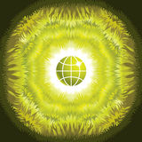 Symbolic green eco world concept Royalty Free Stock Images