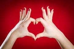 Symbolic hands heart shape Royalty Free Stock Photos