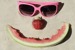 Symbolic happy summer face Royalty Free Stock Images