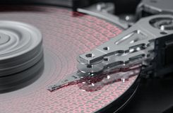Symbolic hard disk and data detail Royalty Free Stock Photo