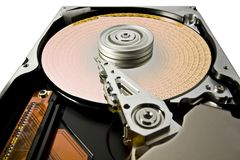 Symbolic hard disk and data Royalty Free Stock Images