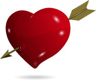 Symbolic heart with arrow Stock Photography