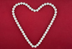 Symbolic heart of beads Royalty Free Stock Image