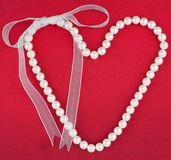 Symbolic heart of beads Royalty Free Stock Photo