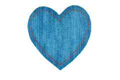 Symbolic heart made of jeans for the your of the text Royalty Free Stock Photography