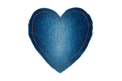 Symbolic heart made of jeans for the your of the text Stock Photo