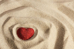Symbolic heart in the sand Royalty Free Stock Photo