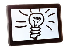 Symbolic idea on a tablet Royalty Free Stock Image