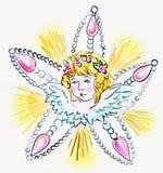 Symbolic illustration of a christmas angel vector illustration