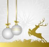 Symbolic illustration for christmas. Symbolic illustration, Christmas background with reindeer Royalty Free Stock Photography